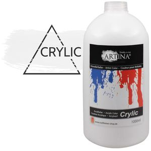 Artina Acrylfarbe 1000 ml, color:Titanweiss
