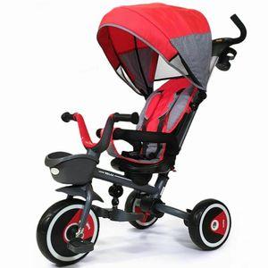 Kinder Dreirad Tricycle Buggy Faltbar EVA Räder Freilauf Schiebedreirad RELAX ROT