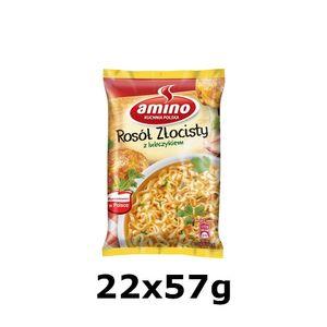 GroßhandelPL Amino Instant Suppe Nudeln goldene Brühe 22x57g