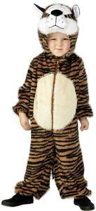 Karneval Kinder Kostüm Tiger 3 - 5 Jahre als Tier verkleiden Overall