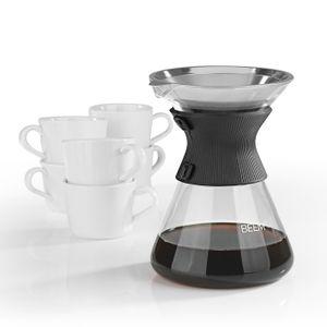 BEEM POUR OVER Kaffeebereiter Kaffeekaraffe Permanentfilter Tassen manuelle ZBR.