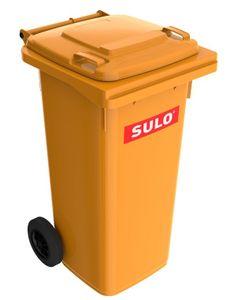 120 Liter Sulo Mülltonne, Mülleimer, Abfalltonne, Großmüllbehälter orange (120 Sulo orange)