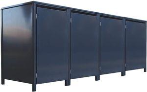 4 Tailor Mülltonnenboxen Basic für 240 Liter Tonne o.Stanzung komplett Anthrazit