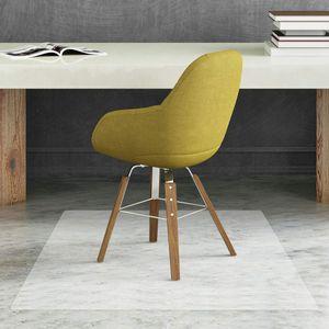 GOPLUS Bodenschutzmatte PVC-Matte Schutzmatte Stuhlmatte Antirutschmatte transparent 1200x1200mm