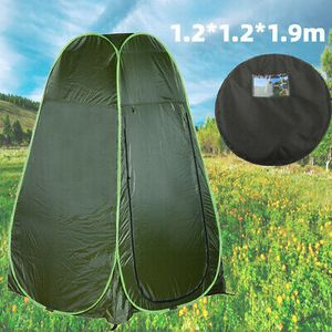 Duschzelt Toilettenzelt Umkleidezelt Lagerzelt Angelzelt Zelt Wasserdicht 1.2x1.2x1.9m mit Tragetasche