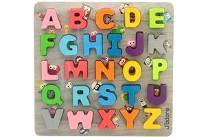 ABC Holz Legepuzzle Puzzle Buchstaben Lernspielzeug 27 Teile