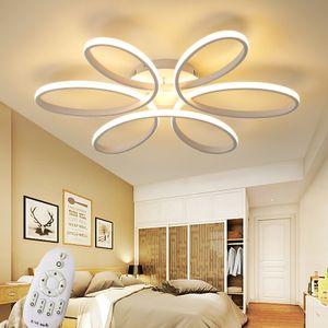 XW809White -74cm LED Deckenlampe mit Fernbedienung Lichtfarbe/Helligkeit einstellbar dimmbar A+ LED Wohnzimmerleuchte Deckenlampe Deckenstrahler LED Deckenleuchte