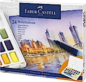 Faber-Castell Aquarellfarben in Näpfchen, 24er Etui