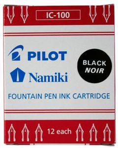 PILOT Tintenpatronen Namiki für Füllhalter Capless schwarz (12 Patronen)