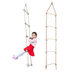 Strickleiter Kletterleiter mit 5 Prossen für Kinder und Erwachsene, belastbar bis 300 kg