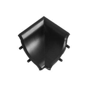 Innenecke für Abschlussleiste | Farbe: Schwarz matt | Zubehör | Wandabschlussleiste | Winkelleiste | Arbeitsplatte | DQ-PP