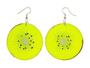 Kiwi Ohrringe Miniblings Hänger Frucht Früchte Obst Fruchtscheibe grün Essen