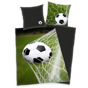 """""""Fußball ( HERDING Young Collection )"""" Bettwäsche / Kinderbettwäsche, 100% Baumwolle ( Renforcé ), 80x80 cm + 135x200 cm"""