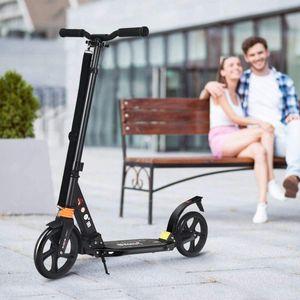 COSTWAY Scooter Roller klappbar, Tretroller 3 Höhen verstellbar, Cityroller 100kg Tragkraft, Sport Kickscooter Kickroller