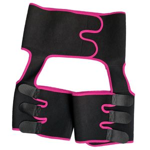 Einstellbare Oberschenkel Former Taille Trainer Wrap Gürtel Ein Stück Hosen Größe Pink M.