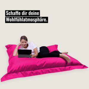 Sitzsack Rechteckig Riesensitzsack Beanbag Sitzkissen Indoor Outdoor(XXXL= 180 x 145, Pink)