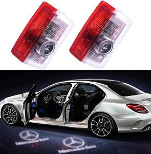 2PCS Autotürlichter 3D Laser Ghost Shadow Logo Lichtprojektor LED Türlampe Courtesy Gate Willkommenslogo für Benz A Klasse B Klasse C Klasse E Klasse W205 W176 W212 W166 W246 GLC GLE GLS GLA