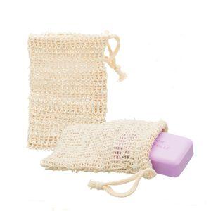 ECENCE 2x Sisal Seifenbeutel Seifensäckchen SetNatur Seifennetz plastikfreie Produkte nachhalt