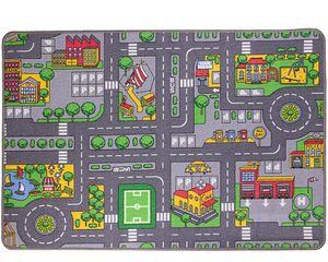 Ondis24 Kinder Spielteppich groß, Kinderteppich Straße Auto Design, Maße 133x95 cm, für Kinderzimmer