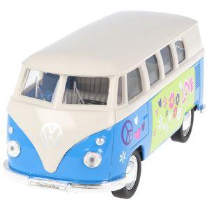 Welly Modellauto VW Bus Classic Flower Power VW-Bus T1 1962 Modell 1:34 in der attraktiven Geschenkbox, farblich sortiert