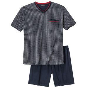 Götzburg Pyjama Shorty dunkelblau gemustert Übergröße, deutsche Größe:58
