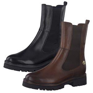 MARCO TOZZI Damen Chelsea Boots Stiefeletten Halbstiefel Leder 2-85403-27, Größe:38 EU, Farbe:Braun