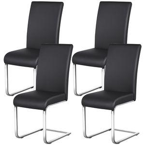Yaheetech 4er Set Esszimmerstuhl Schwingstuhl Stühle esszimmer küchenstühle, 120 kg belastbar