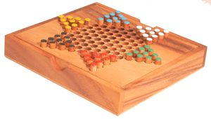 Halma aus Holz, 17 cm x 16 cm - Holz-Spiel