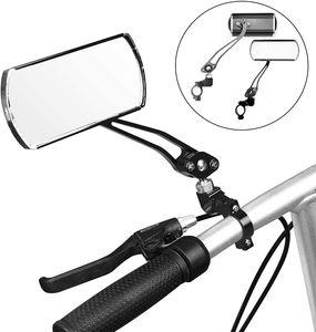 2 Stück Fahrrad Rückspiegel, Lenker-Fahrradspiegel, HD, schlagfest, Glaslinse, Verstellbar, 360° Drehungsüberprüfung, Fahrradspiegel SPY Space