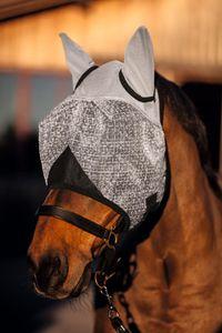 Kerbl Fliegenmaske mit Ohren-und UV-Schutz, schwarz, Pony