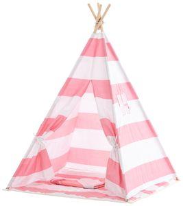 CLP Spielzelt Esna mit Fenster Indoor, Farbe:pink gestreift