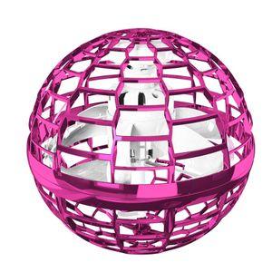Flynova Pro Flying Ball Bumerang Spinner Dynamische RGB-Lichter Double Pass (Pink Ball)