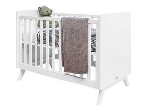 Bopita Anne Babybett Weiß 60 x 120 cm Lattenrost höhenverstellbar
