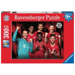 RAVENSBURGER Kinderpuzzle im XXL-Format FC Bayern Saison 2020/21 300 Teile
