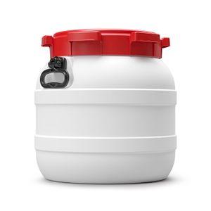 42 L Liter Curtec Weithalsfass Schraubdeckel Drehdeckelfass weiß Kanu Bootsfass (42 CT)