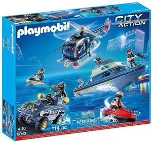 PLAYMOBIL Polizei Set mit Unterwassermotor, PLAYMOBIL 9043