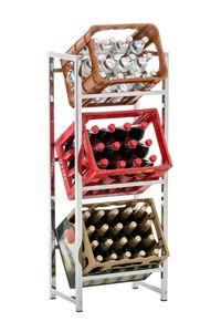 CLP Getränkekistenständer Lennert, Farbe:chrom, Größe:M