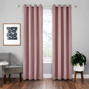 Vorhänge 2er 245x140cm(HxB) Pink Blickdicht Thermo für Wohnzimmer Schlafzimmer Kinderzimmer