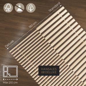 Rollrost 180x200 cm - 300 kg 25 Leisten - Hochwertiger Extra starker Rolllattenrost aus echtem Birkenholz - Lattenrost unbehandelt - Passt Wohnwagen Wohnmobil Lattenrollrost