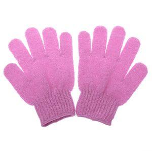 2x Massage Handschuh Duschhandschuh Reinigung Peeling Peelinghandschuh Rosen-rotes Rosa