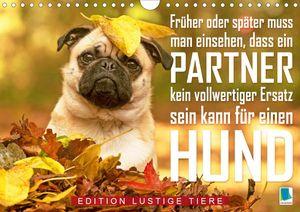 Calvendo Wandkalender Ein Mann kann kein vollwertiger Ersatz für einen Hund sein: Edition lustige Tiere (Wandkalender 2021 DIN A4 quer) 2021 DIN A4