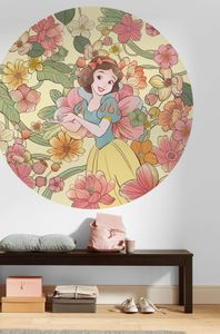 """Komar Vlies Fototapete rund und selbstklebend """"Snow White Endless Summer """" - Größe: 125 x 125 cm (Breite x Höhe) - 1 Stück"""