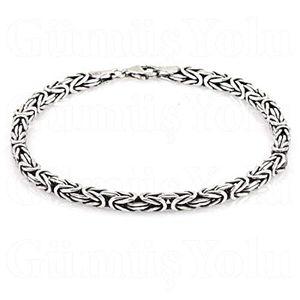 FeinWert Armband Königsketten Design rhodiniert 925 Sterling Silber vierkant 2,5 mm, 20,0 cm