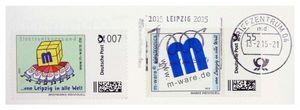 FDC mit 7+55-Cent-Marken, 13.02.2015, Leipzig 1000 M-ware® ID15600