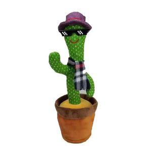 Kaktus Plüschtiere Elektronisches Tanzendes und Singender Kaktus Plüsch-Puppe, Kaktus Plüsch Spielzeug Geschenke, BatteriebetriebenA)