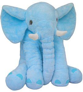 BRUBAKER XXL Elefant Kuscheltier 45 cm Plüschtier Geschenk für Baby Kinder Kissen - Blau