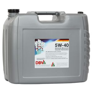 5W/40 DBV-Synthetik-Motorenöl neuester Generation 20-Liter-Kanister