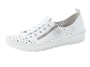 Rieker Damen Slipper Leder Halbschuhe 49665-80, Größe:37 EU, Farbe:Weiß