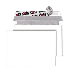 250 dots Briefumschläge C6 ohne Fenster  haftklebend  weiß
