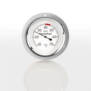 Eliga Thermometer für Sauna / Dampfsauna Edelstahl wasserdicht